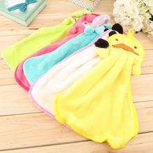 2016 Home Use Cute Nursery Hand Towel Soft Plush Fabric Cartoon Animal Hanging Wipe Bathing Towel For Kids