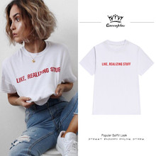 Europe and the United States street retro leisure like a realty letter t-shirt female short sleeve summer jacket(China)