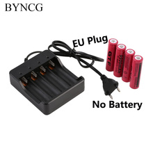 18650 Rechargeable Battery EU Charger Indicator [EU plug] ( not including Battery ) with short circuit protection For 4X 18650(China)