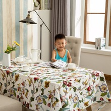 High quality Ramie Cotton Fabric Dining Tablecloth Rectangle Table Cloth Domestic Household Cloth Hotel Restaurant Fabric Cover(China)