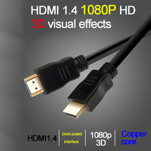 4k hdmi cable 0.5m 1m 2m 3m HDMI 1.4 OD 5.5 Support pc HDTV STB Projector DVD Player HD Monitor Double aluminum foil shield(China)