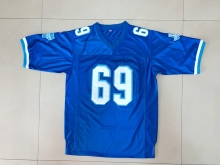 New Varsity Blues Billy Bob 69 American Football Jersey Stitched Sewn-Blue