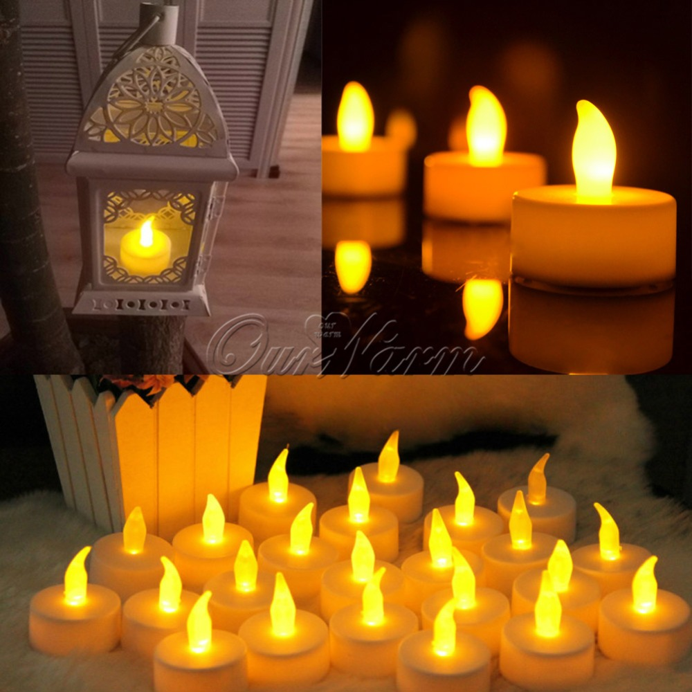 12pcs/lot Led Candle Light Flameless Candle Lights Wedding Decoration Glow Party Supplies Home Decor