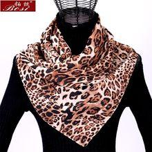 Mousseline de soie écharpe châle imprimé léopard femmes de mode hijab hiver  luipaard sjaal schal automne écharpes poncho dames d. 5019c2ac6a8