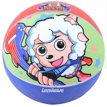 Lenwave Brand Size 5 Rubber Children Basketball Ball Feather Special Cartoon Pattern Pleasant Goat Series Best Popular In China(China)