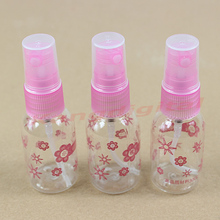 2 Pcs 30ml Travel Transparent Plastic Perfume Atomizer Small Mini Spray Bottle Empty Makeup Container Pump Transparent(China)
