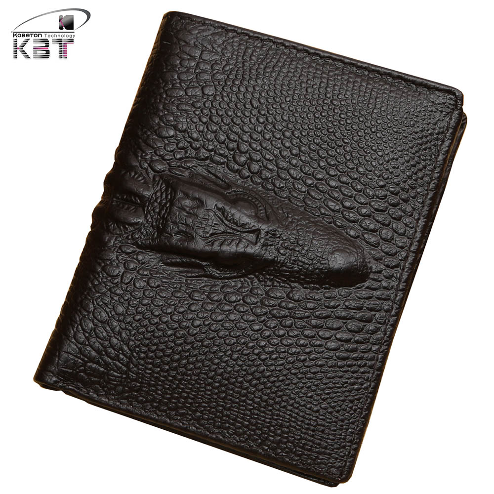Wallet Men Classic Business Style Brand Crocodile Pattern Natural Leather Wallets Solid Bifold Cash Money Purse Card Holder Bag <br><br>Aliexpress