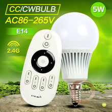 2017 New Arrival Original Mi Light Dimmable 110V 220V CW/WW E14 5W Smart  LED Bulb Lamp Lighting