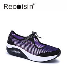 RECOISIN New Fashion Luxury Brand Women Shoes 2017 Summer Breathable Flat Shoes Woman Loafers Shoes Zapatillas Deportivas Mujer