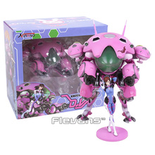 Hot Game Hero Hana Song DVA D.VA with Mecha PVC Figure Collectible Model Toy 24cm