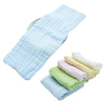 5pcs/lot 12 layers Natural Cotton Gauze Baby Nappies Liner Inserts For Baby Reusable Diaper Washable Cloth diaper Nappy Changing(China)