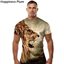 Lion T Shirt Universe Sky Galaxy Men Short Sleeve 3d T-shirts Print Anime T-shirt Animal Mens Brand Clothing 2017 Top Tee 4XL