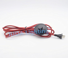 2pin electric power lamp power cord wire with foot switch Red Retro braid wire for floor lamps, table lamps Lighting Accessories(China)