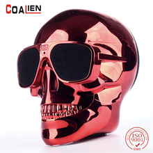 COALIEN Bluetooth Speaker Skull Wireless Hands-free Subwoofer Music Speakers Left and Right Channel HIFI Stereo Loudspeaker(China)