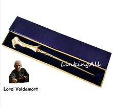 High Quality Metal Core Lord Voldemort Magic Wand with Gift Box Packing kids cosplay magic trick toys(China)