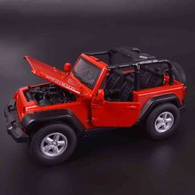 Hot sale MZ 1:32 Car Model  for JEEP Wrangler Alloy Children's toys Off-road vehicles Open car Military vehicle Collection baby