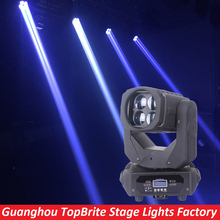 New 4x25W White Led Moving Head Super Beam Light For Bar Effect Led Stage Effect Lighting DJ Disco DMX Strobe Wash Equipment