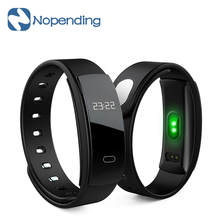 New Makibes QS80 Heart Rate Smart Band Blood Bracelet Wristband Pressure Monitoring Fitness Tracker for IOS Android Smartphone