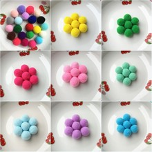 20g(36pcs) 25mm Multi Color Pompom Fur Craft DIY Soft Pom Poms For Children Toys Cellphone Wedding Decoration Accessories