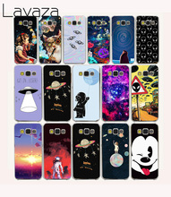 Lavaza 59O astronaut Space Aliens Hard Case for Samsung Galaxy A5 2015 A500F Note 2 3 4 5