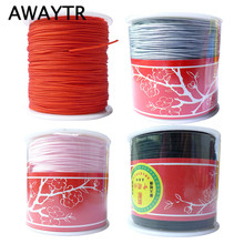 Awaytr Wholesale 100 Yards/Piece 1MM Nylon Cord for Bracelet/Necklace Beading Braided Jewelry String Thread Cord Jewelry.