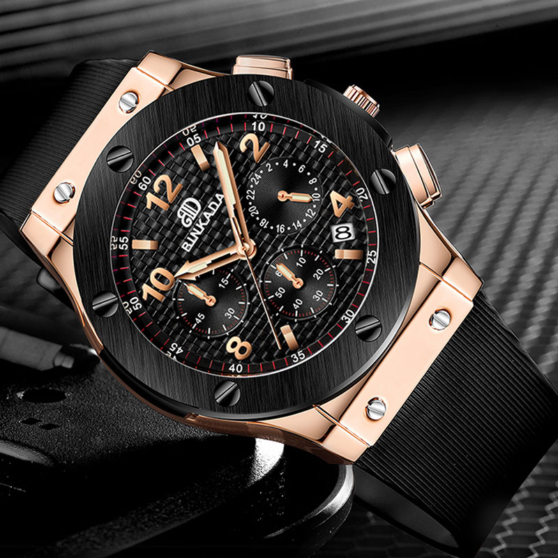 2018 Hot BINKADA selling luxury leisure fashion watches men military silica gel with quartz watch relogio masculino<br>