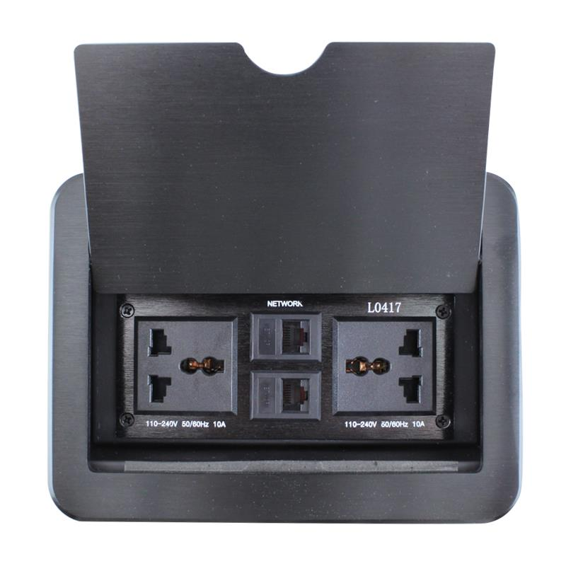 New LC-0417 multimedia conferencing clamshell desktop socket outlet plug dual network dual power multifunctional<br><br>Aliexpress