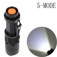 LED Flashlight Torch Zoomable Light Mini 2000LM Inspection Light 5-Modes LED Flashlight Torch Lamp SOS light(China)