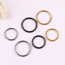 Hot Selling Nose Ear Ring Captive Hinged Segment Titanium Colour Piercing 8 to 10mm 3 color 10pcs Body Jewelry Nose Hoop  C31