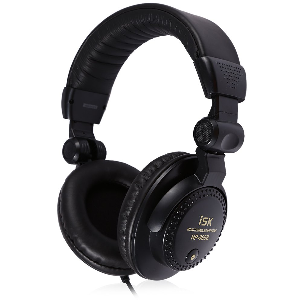ISK Professional Monitor Black Color Headset Portability Durable Headband Stereo Dynamic DJ Earphone Headphone For Computer<br><br>Aliexpress