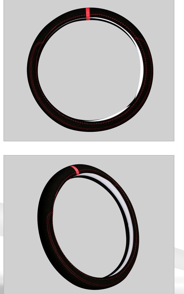 Car accessories Leather Car steering wheel cover All year can use sport Car styling Auto steering wheel Diameter  (8)
