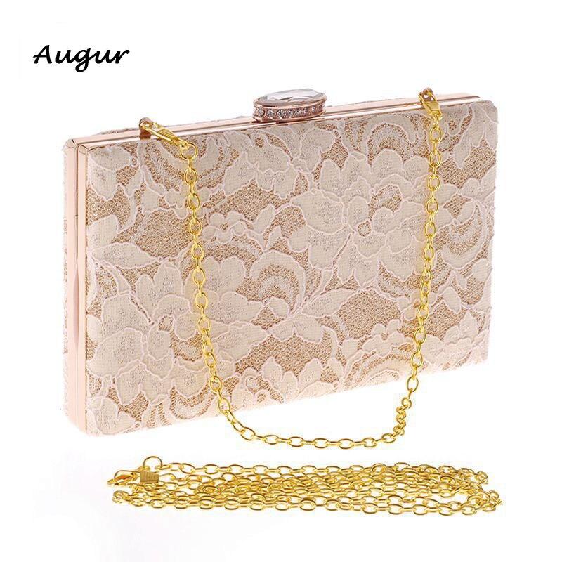 Ladies Luxury European Vintage Simple Lace Evening Bag Women Wedding Brand Designer  Clutch Purse<br>