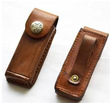 Second Hand Leather Folding Tool Sheath Keys Sheath Knife Belt Sheath Pouch Free Shipping 12001436(China)