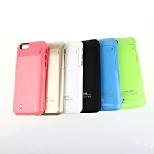 Pink/Black/Blue/Gold/Green/White Back Case with Battery External Stand Charger Case without Signal Reductions for Iphone 4.7""