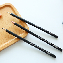 10pcs/lot Students Writing Tools HB 2H 2B Pencil Black Hexagonal Pencil The Sketch Drawing And Write supplies(China)