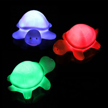 Cartoon Turtle Lovely Creative led color change Changing LED Night Lights Lamp luminaria Beautiful Home Decorative Nightlights(China)
