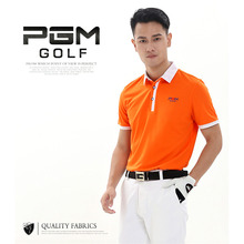 3 Colors PGM Outdoor Sport Golf Shirt Men Polo Short T-shirt Durable Cotton Golf Sleeve training Shirts Breathable Quick Dry