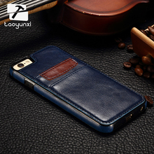 TAOYUNXI PU Leather Cases For Apple iPhone SE 5 5S 5SE 5G 55S 6C iPhone55s iPhone5S Cover Card Holder Bag Housing For iPhone5(China)