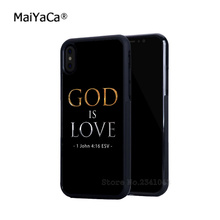 god is love christian bible soft edge cell phone cases for iphone x 5 5c 5s se 6s 6plus 7 7plus 8 8plus phone cover case(China)