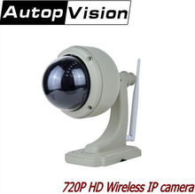 Buy Outdoor 720P HD Wireless PTZ Dome IP Camera 4X Zoom CCTV Security Video Network Surveillance IP Camera Wifi for $103.55 in AliExpress store