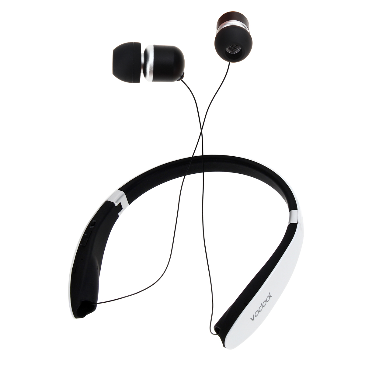 Foldable Wireless Bluetooth Stereo Earphone Auriculares Extensible Earpiece Cable Handsfree Call Headset with Microphone <br>