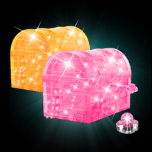 Flash treasure chest Direct selling 3 d flash kit crystal three-dimensional jigsaw puzzle(China)