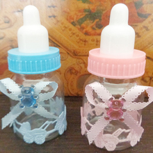 Hot sale 12Pcs Baby Candy Box Bottle Baby Shower Baptism Birthday Gift Party Favors Cute Bear Candy Box Baby Feeding Bottle