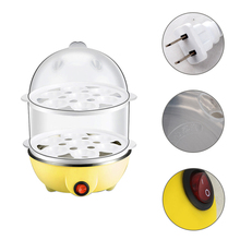 Stainless Steel Eggs Boiler Double-Layer Multi-functional Electric Eggs Boiler Cooker Steamer Home Kitchen Use JK0972