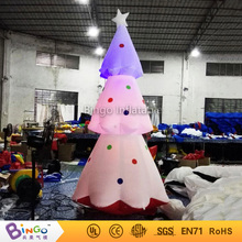 3 Meters high Inflatable Christmas Tree Decorative customized airblown LED lighting christmas tree 16 colors change toys