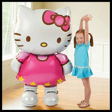 116CM Oversized Hello Kitty Foil Big KT Happy Birthday Cute Cat Shaped Birthday Party Toys&Hobbies. PY002