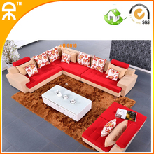 5 pcs alibaba carved purple red blue brown velvet sofa set couch with chaise lounge(China)