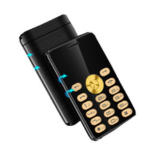 2017 Original MPARTY C555B Luxury Mini Phone Metal Body Bluetooth Dialer With Mp3 Dual SIM Support Speed Dial Cell Phone(China)