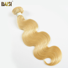 BAISI 613# European Remy Hair Blonde Body Wave Hair Extensions,Machine Double Weft,Free Shipping 10inch-26inch
