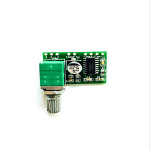 1pcs PAM8403 Mini 5V Power Amplifier Board Support USB Power Supply 3W+3W (Switch potentiometer) 2-Channels Audio modul